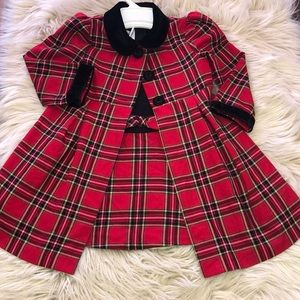Bonnie Jean Christmas/ party coat and dress